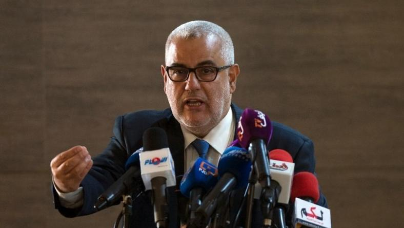 Moroccan Prime Minister and Secretary General of the ruling Islamist Justice and Development Party, Abdelilah Benkirane, speaks during a conference in Sale on October 22, 2016