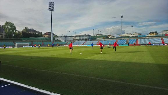 Trening reprezentacije Srbije u Luksemburgu