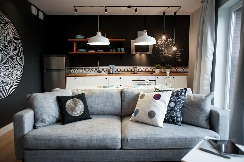 Świetnie urządzone 41-metrowe mieszkanie w Gdańsku. Przytulne, wyciszające, ale z pazurem!