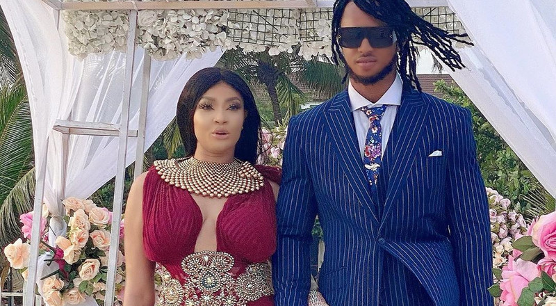 See photos from actress Angela Okorie's private beach wedding