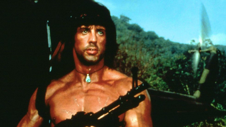 """Sylvester Stallone w filmie """"Rambo"""""""