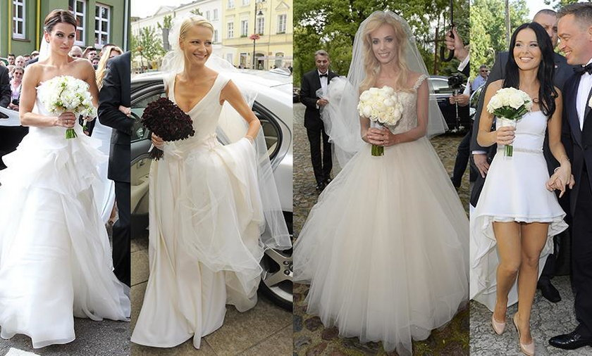 W takich kreacjach brały ślub znane Polki