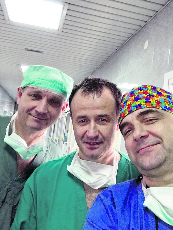 Doktori Branstrum, Milenković i Đorđević uradili su transplantaciju u Tiršovoj