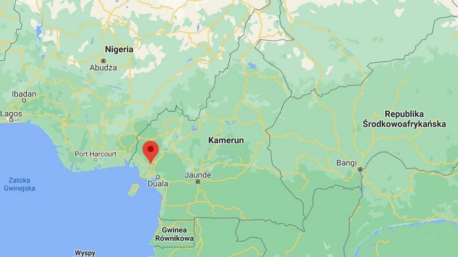 Miejsce ataku terrorystycznego na szkołę w mieście Kumba na zachodzie Kamerunu