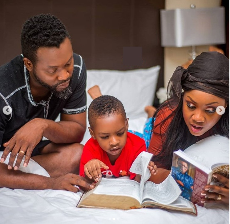 Adjety Anang and family