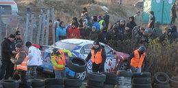 Wypadek na trasie rajdu Barbórka. Samochód uderzył w ludzi