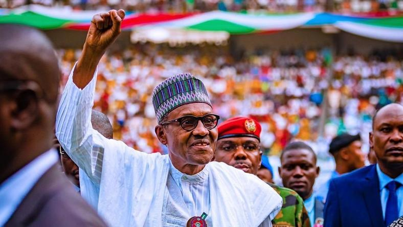 President Muhammadu Buhari, 76, is confident he'll remain in the Presidential Villa until 2023 khorgist
