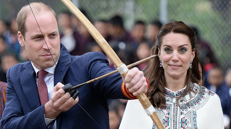 Książę William i księżna Kate podczas wizyty w Bhutanie