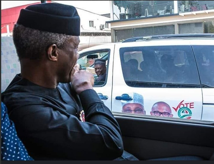 Osinbajo was back on the campaign trail after his helicopter crashed (Presidency)
