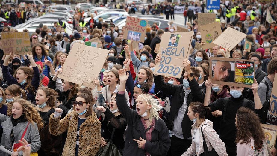 Protest Młodzieżowego Strajku Klimatycznego