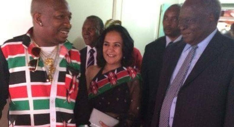Senator Mike Sonko and former President Mwai Kibaki