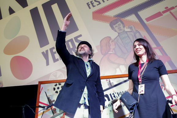 Sloboda Mićalović sa Kusturicom na premijeri filma