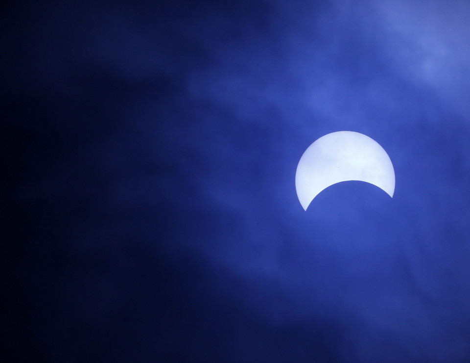 PHILIPPINES SOLAR ECLIPSE (A partial solar eclipse is seen in Manila)