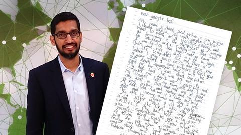 Prezes Google Sundar Pichai osobiście odpowiedział na list 7-latki