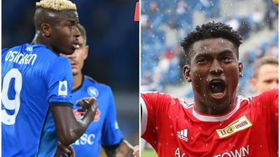 Nigerian Players Abroad: Victor Osimhen's red card and Taiwo Awoniyi's goal lead talking points