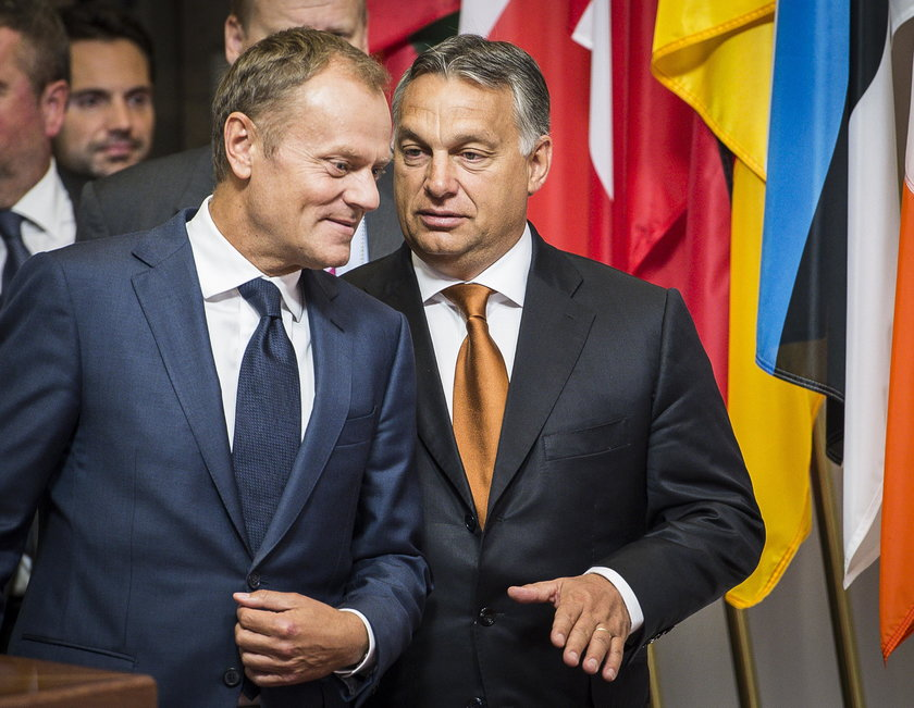 Donald Tusk i Victor Orban