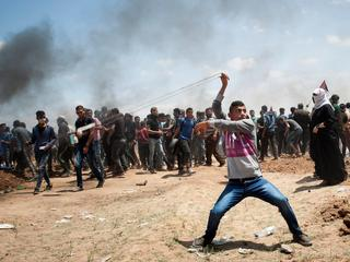 Protest at Gaza-Israeli border