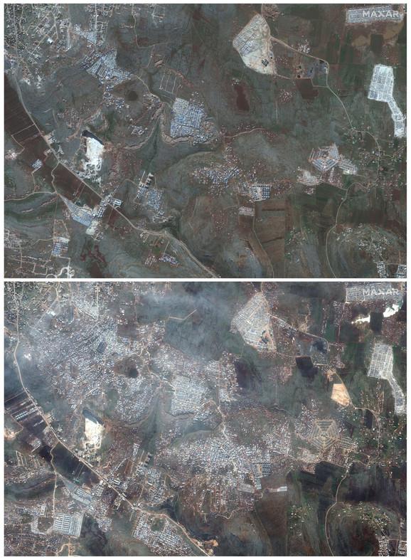 Satelitski snimci Sarmade u februaru 2019. i ove nedelje