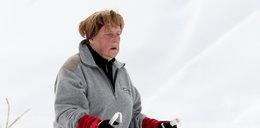 Groza. Merkel miała wypadek na nartach