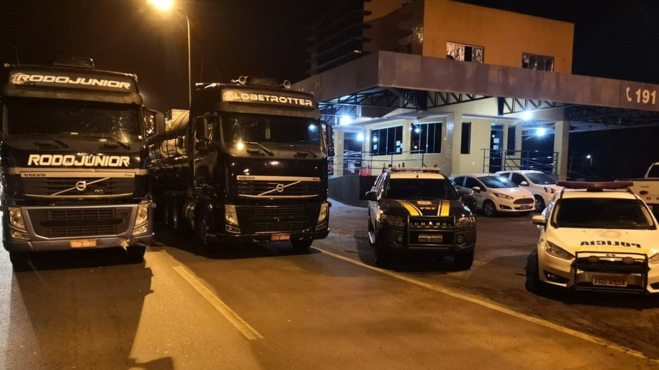 Identyczne ciężarówki z Brazylii. Fot. brazylijska policja PRF