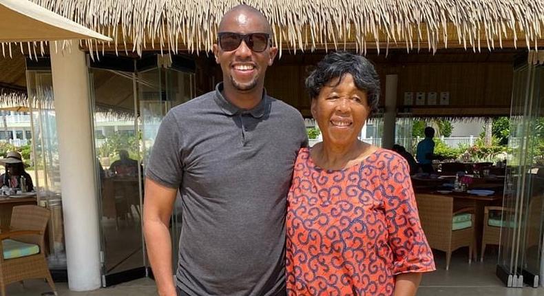 Waihiga Mwaura and his Aunt