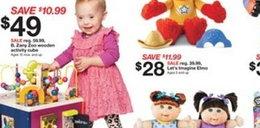 Dziecko z zespołem Downa reklamuje zabawki przed świętami