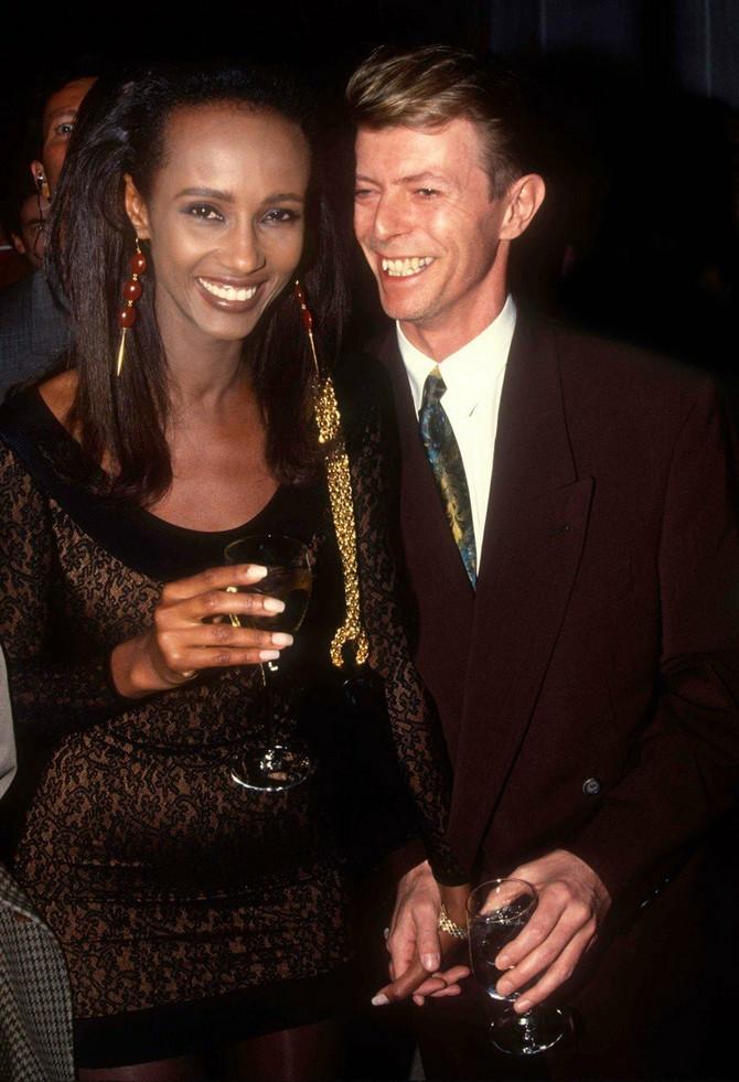 Sa suprugom 1990. u Njujorku: stomačić je umeo da
