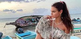 Honorata Skarbek eksponuje ciało w skąpym bikini. Gwiazda korzysta ze słońca w Meksyku