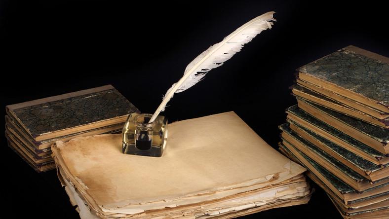 Poezja, rękopis, wiersze. Stare książki