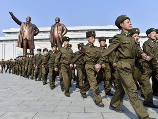 N. Korea marks late founder's birthday in jovial mood
