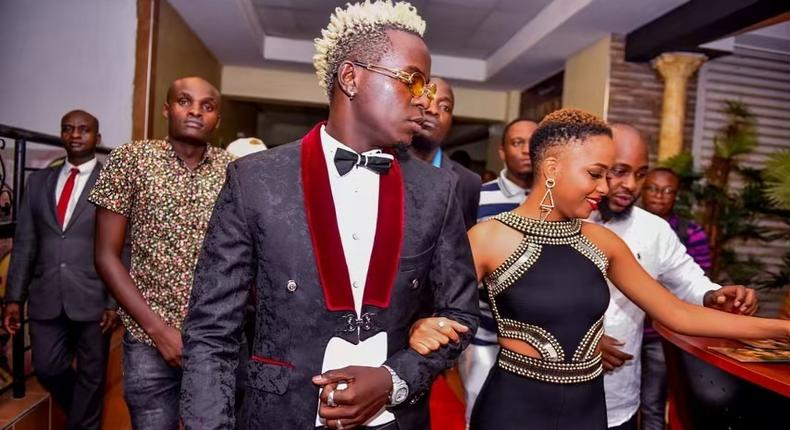 Nandy and Willy Paul. Nandy's Album launch at Golden Bistro