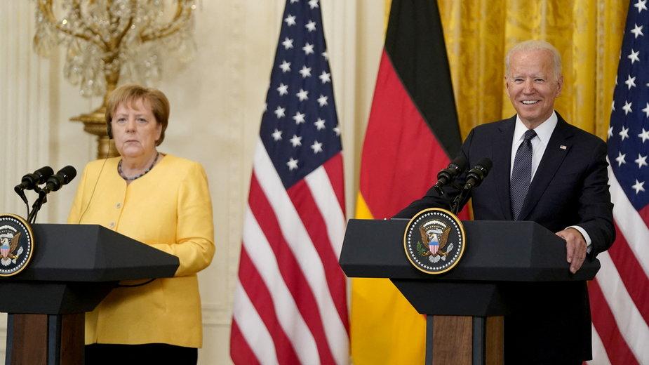 Konferencja prasowa Joe'go Bidena i Angeli Merkel