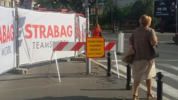 Upozorenje za pešake