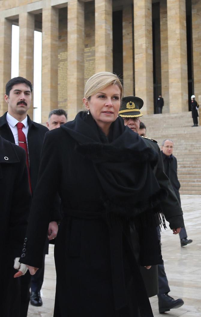 Kolinda Grabar Kitarović prošlog meseca u poseti Turskoj