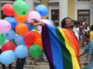 LGBT Community And Supporters Celebrate After SC Verdict Of Section 377