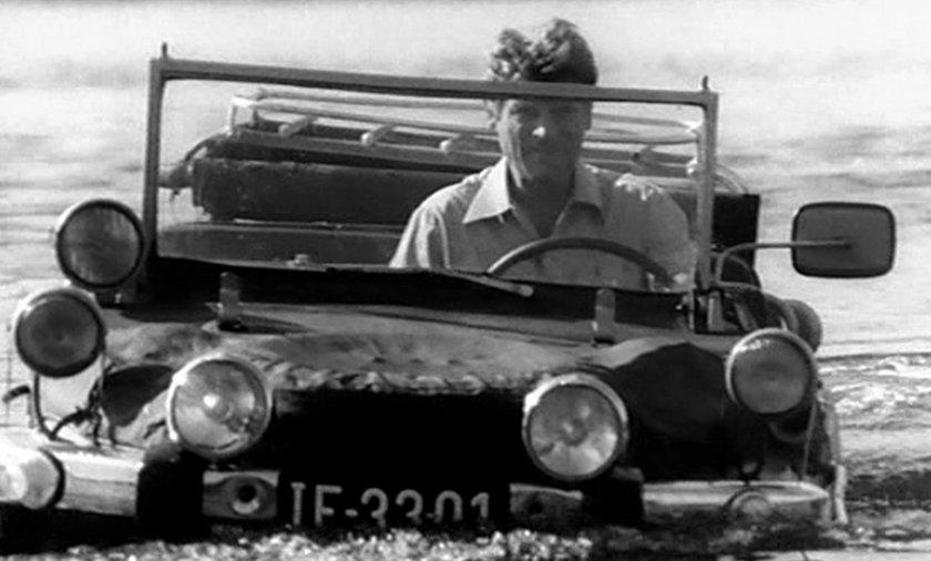 Stanisław Mikulski w filmie Pan Samochodzik