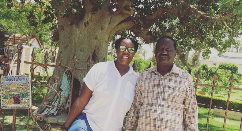 Raila Odinga with Winnie Odinga