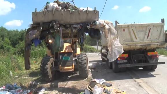 Čišćenje divlje deponije u Bariču