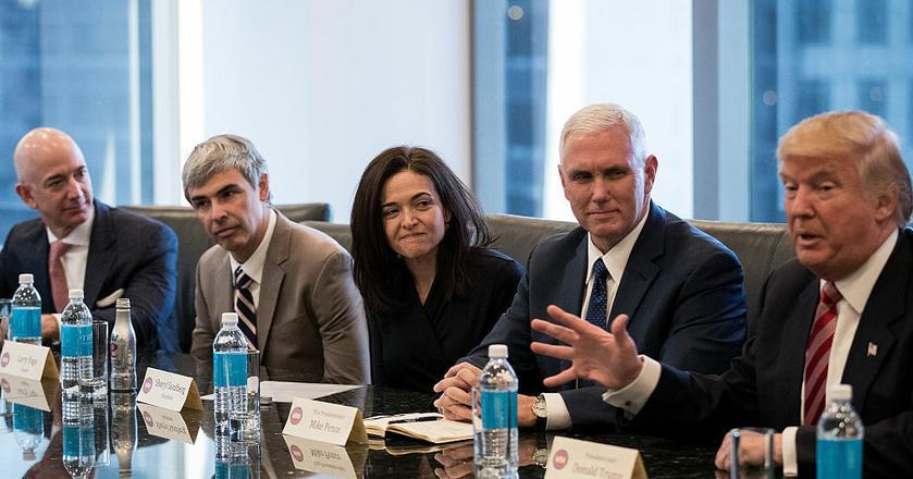 Na spotkaniu Donalda Trumpa z CEO firm technologicznych była tylko jedna kobieta - Sheryl Sandberg z Facebooka