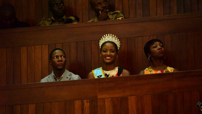 Miss Uganda Quiin Abenakyo in Parliament on Wednesday