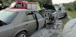Groźne zderzenie samochodów w Witowicach