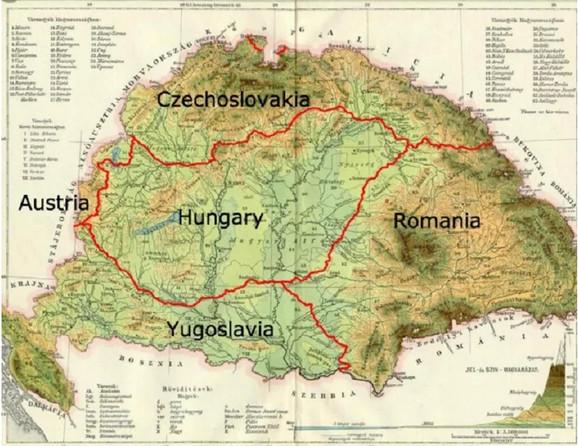 Karta Velike Mađarske