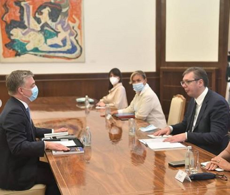 Vučić i šef misije Saveta Evrope, sastanak