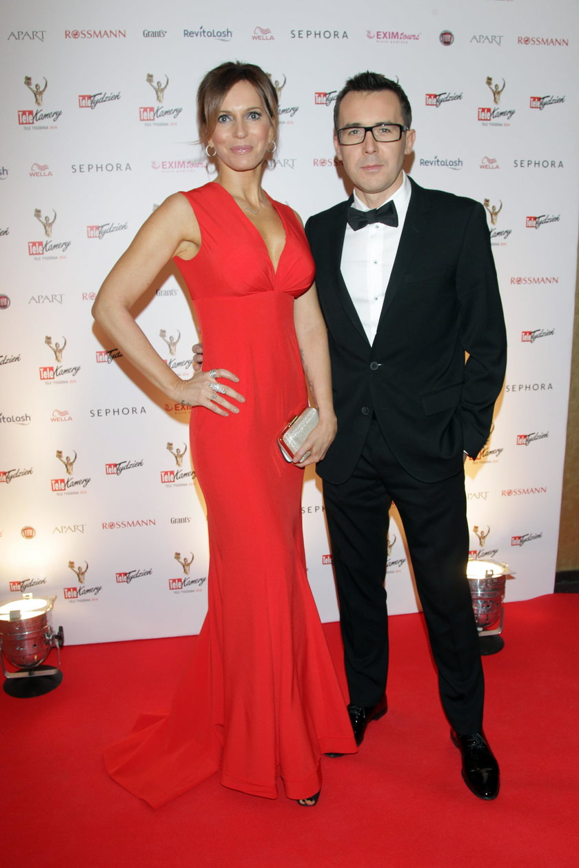 Maciej Kurzajewski z żoną