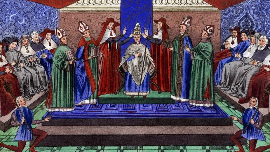 Intronizacja papieża Bonifacego IX