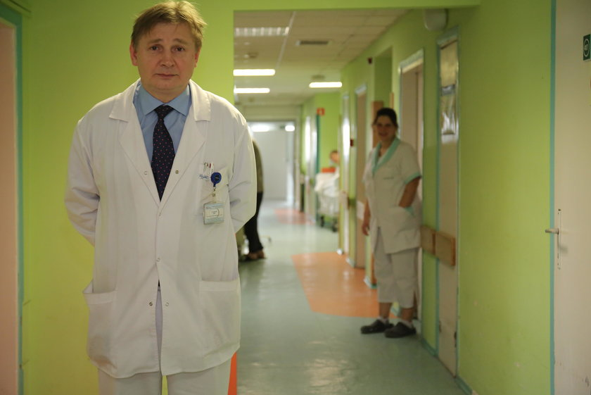 Jacek Cywiński szpital Kopernika w Łodzi