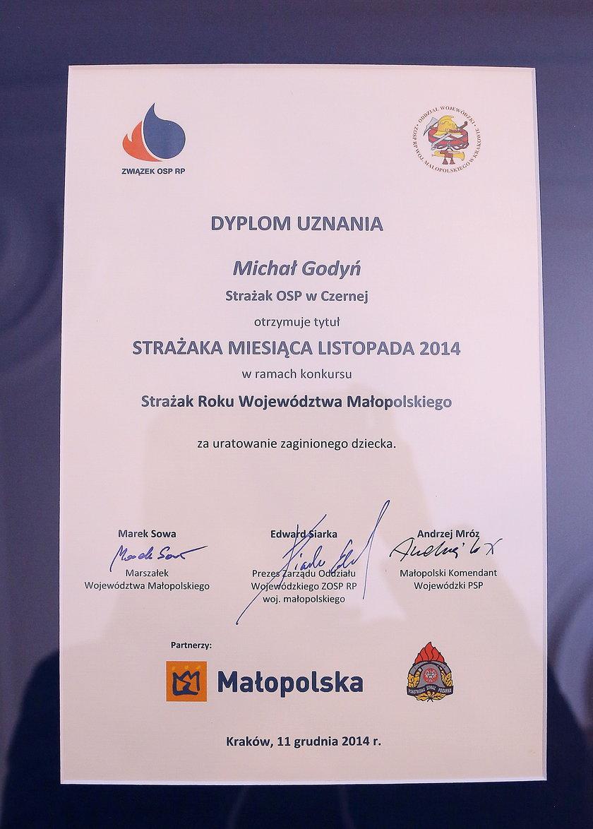 Pamiątkowy dyplom
