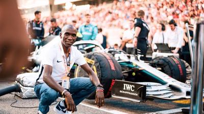 Kenyan Eliud Kipchonge stomps critics dissing his golden legs clad in Nike Vaporfly as hard as Lewis Hamilton hammers Mercedes-AMG F1