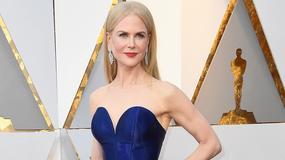 Oscary 2018. Uśmiechnięta Nicole Kidman z kokardą na brzuchu