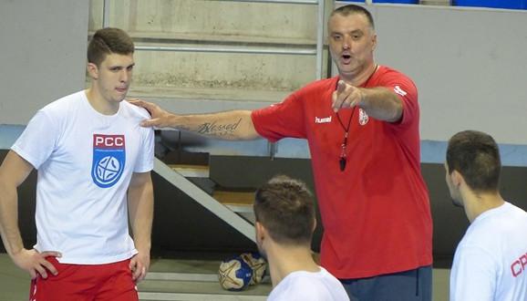 Nenad Peruničić na treningu reprezentacije